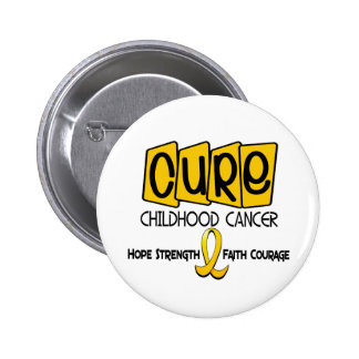 Childhood Cancer Awareness CURE 6 Cm Round Badge