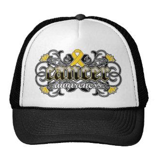 Childhood Cancer Awareness Floral Ornamental Trucker Hat