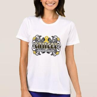 Childhood Cancer Awareness Floral Ornamental T-shirt