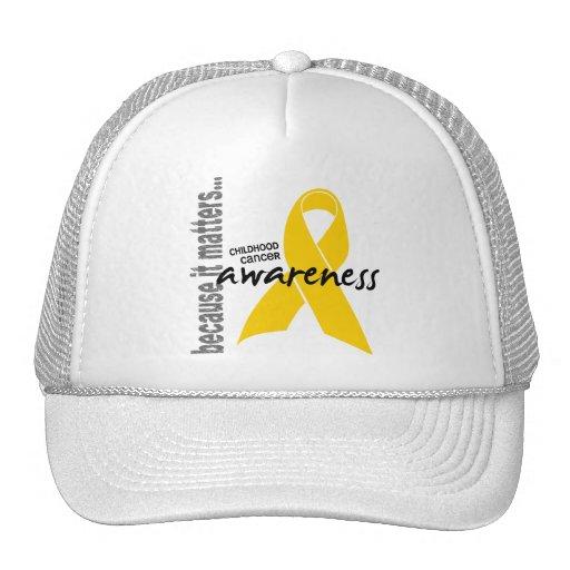 Childhood Cancer Awareness Mesh Hats