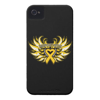 Childhood Cancer Awareness Heart Wings iPhone 4 Cases