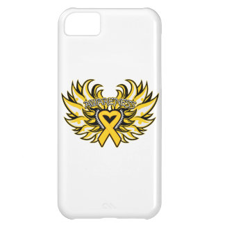 Childhood Cancer Awareness Heart Wings Cover For iPhone 5C