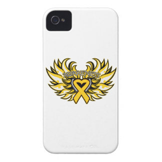 Childhood Cancer Awareness Heart Wings Case-Mate iPhone 4 Case