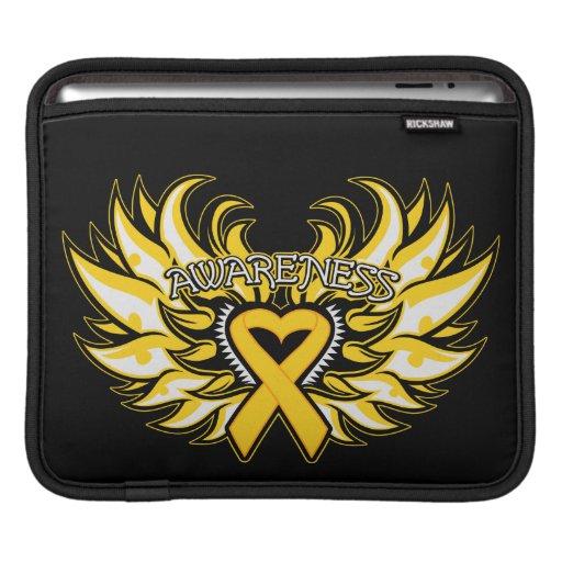Childhood Cancer Awareness Heart Wings iPad Sleeve