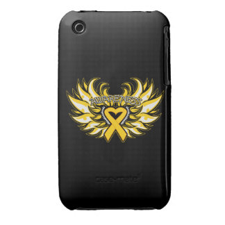 Childhood Cancer Awareness Heart Wings iPhone 3 Case