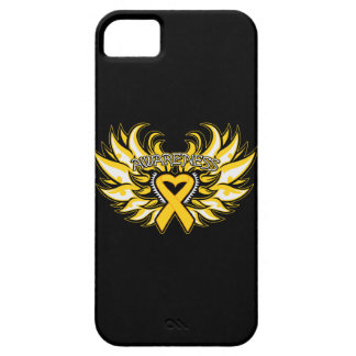 Childhood Cancer Awareness Heart Wings iPhone 5 Case