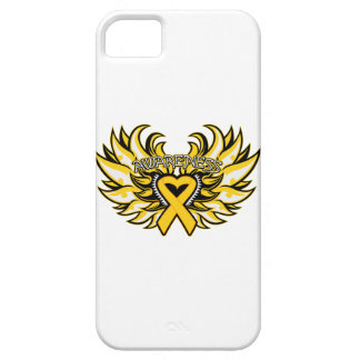 Childhood Cancer Awareness Heart Wings iPhone 5 Cases
