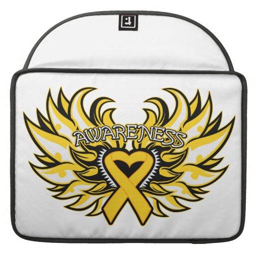 Childhood Cancer Awareness Heart Wings Sleeve For MacBooks
