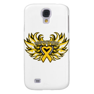 Childhood Cancer Awareness Heart Wings png Samsung Galaxy S4 Covers
