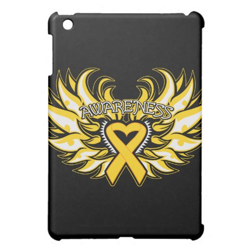 Childhood Cancer Awareness Heart Wings.png Cover For The iPad Mini