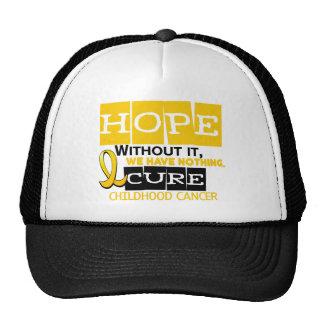 Childhood Cancer Awareness HOPE 2 Mesh Hats