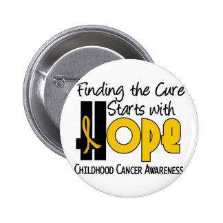 Childhood Cancer Awareness HOPE 4 6 Cm Round Badge