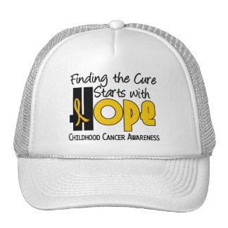 Childhood Cancer Awareness HOPE 4 Mesh Hats