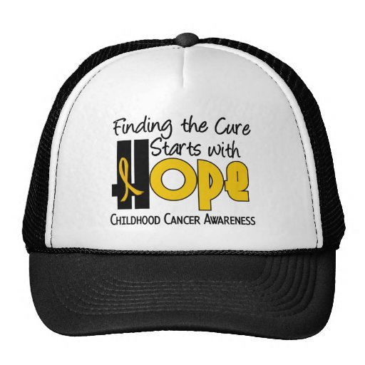 Childhood Cancer Awareness HOPE 4 Trucker Hat