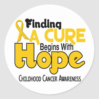 Childhood Cancer Awareness HOPE 5 Classic Round Sticker