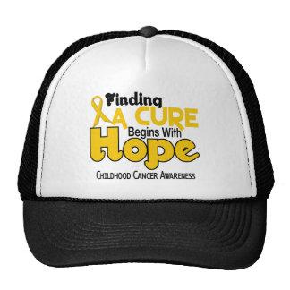 Childhood Cancer Awareness HOPE 5 Mesh Hats