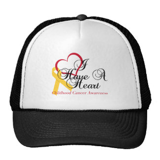 Childhood Cancer Awareness I Have A Heart Cap