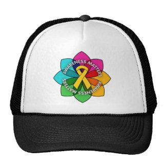 Childhood Cancer Awareness Matters Petals Mesh Hat