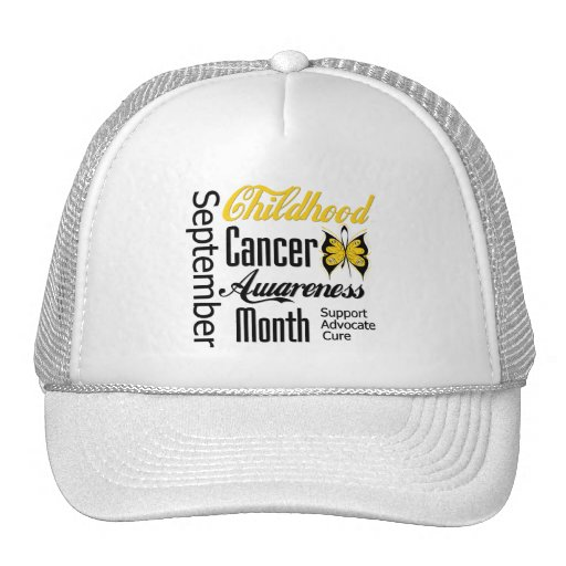 Childhood Cancer Awareness Month Advocacy Hats