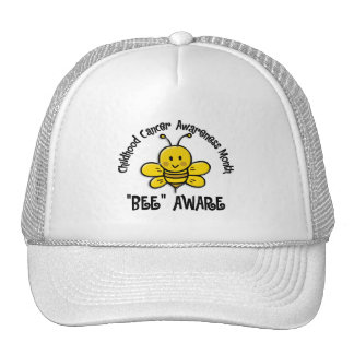 Childhood Cancer Awareness Month Bee 1 2 Mesh Hats