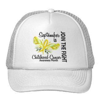 Childhood Cancer Awareness Month Butterfly 3.1 Trucker Hat
