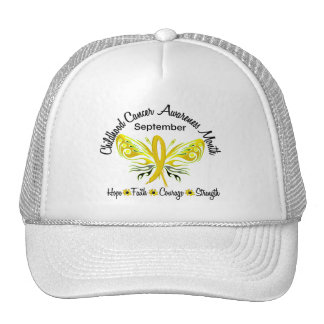 Childhood Cancer Awareness Month Butterfly 3 2 Hat