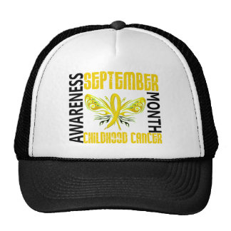 Childhood Cancer Awareness Month Butterfly 3 4 Mesh Hat