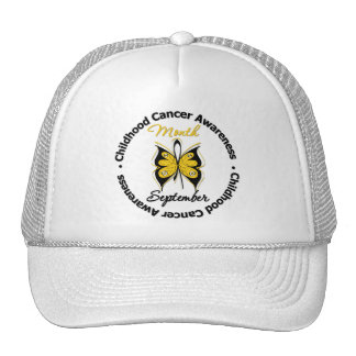 Childhood Cancer Awareness Month Butterfly v4 Cap
