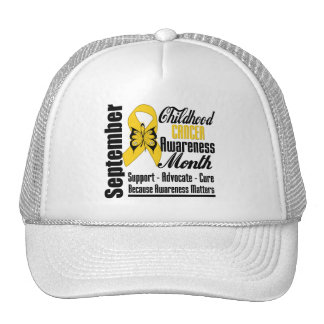 Childhood Cancer Awareness Month Butterfly v5 Cap