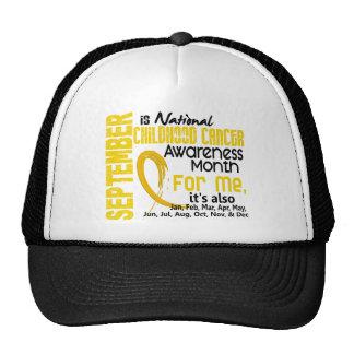 Childhood Cancer Awareness Month For Me Mesh Hat