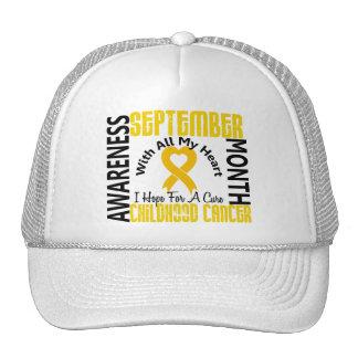 Childhood Cancer Awareness Month Heart 1 1 Trucker Hats