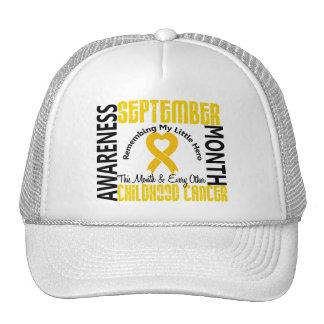 Childhood Cancer Awareness Month Heart  1.4 Trucker Hat