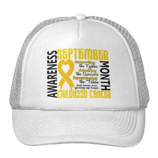 Childhood Cancer Awareness Month Heart 1.5 Trucker Hat