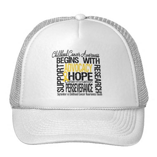 Childhood Cancer Awareness Month Hope Hats