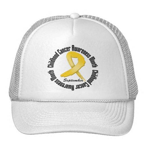 Childhood Cancer Awareness Month Ribbon Hats