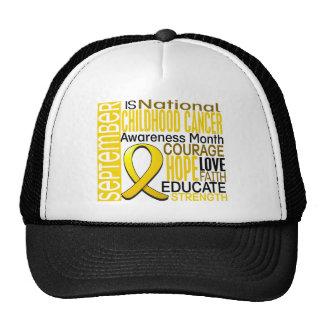 Childhood Cancer Awareness Month Ribbon I2 1.3 Trucker Hat