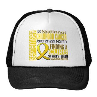 Childhood Cancer Awareness Month Ribbon I2 1.5 Trucker Hat