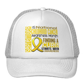 Childhood Cancer Awareness Month Ribbon I2 1.5 Cap