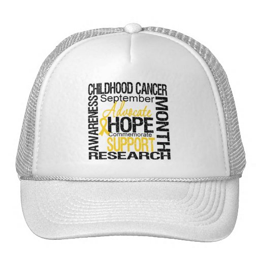 Childhood Cancer AWARENESS Month TRIBUTE Trucker Hat