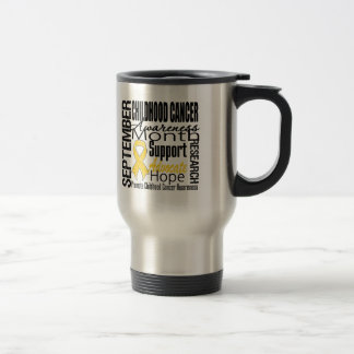 Childhood Cancer Awareness Month Tribute Travel Mug