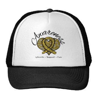 Childhood Cancer Awareness Mosaic Heart Trucker Hat