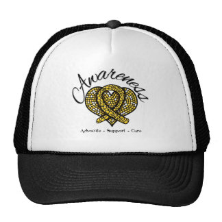 Childhood Cancer Awareness Mosaic Heart Hats