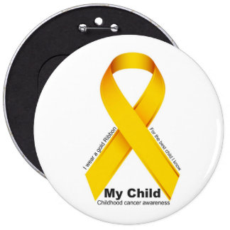 Childhood cancer awareness my child badge