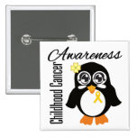Childhood Cancer Awareness Penguin Pins