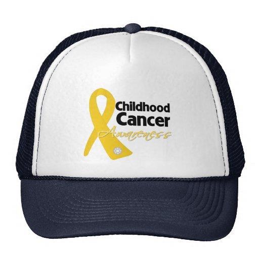 Childhood Cancer Awareness Ribbon Mesh Hats