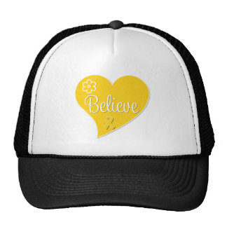 Childhood Cancer Believe Heart Hats