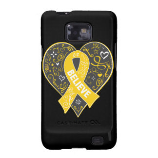 Childhood Cancer Believe Ribbon Heart Samsung Galaxy SII Cover