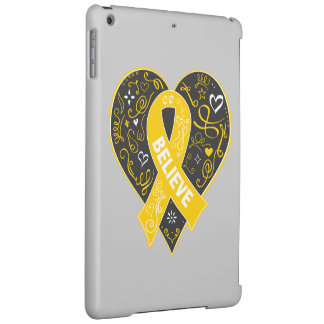 Childhood Cancer Believe Ribbon Heart