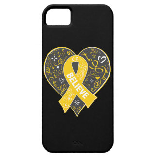 Childhood Cancer Believe Ribbon Heart iPhone 5 Cover