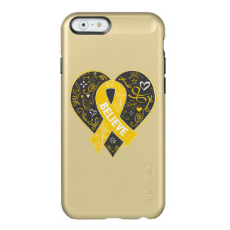 Childhood Cancer Believe Ribbon Heart Incipio Feather® Shine iPhone 6 Case